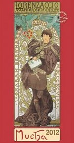 Kalendář nástěnný 2012 - Alfons Mucha 33 x 64 cm