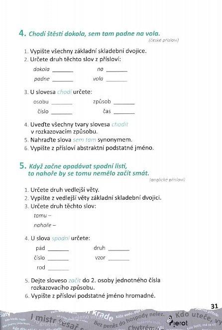 Náhled Procvičování českého jazyka - v příslovích a rčeních
