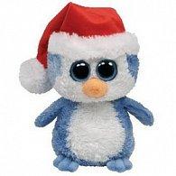 Plyš očka střední tučňák vánoční