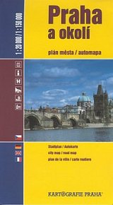 Praha a okolí plán města/automapa 1:20 000/1:150 000