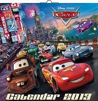 Kalendář 2013 poznámkový - Walt Disney Autíčka, 30 x 60 cm