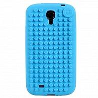 Samsung S4 Pixel Case nebeská modř