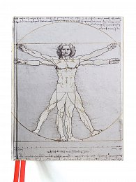 Skicář Da Vinci: Vitruvian Man (Blank Sketch Book)