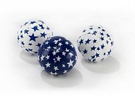 Žonglovací míčky - junior modro-bílá
