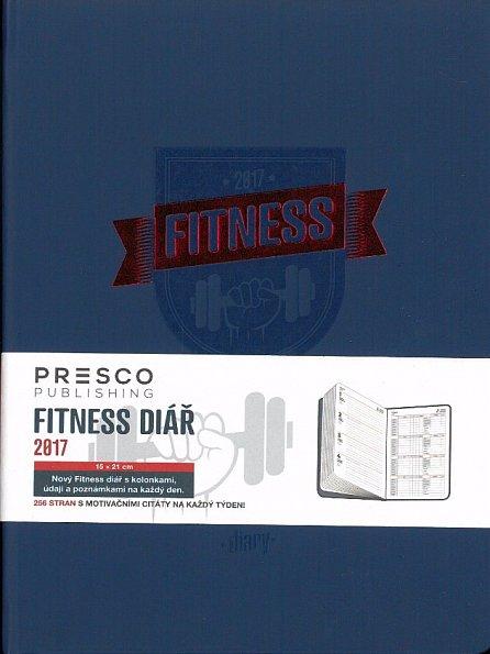 Náhled Diář 2017 - Fitness diář A5