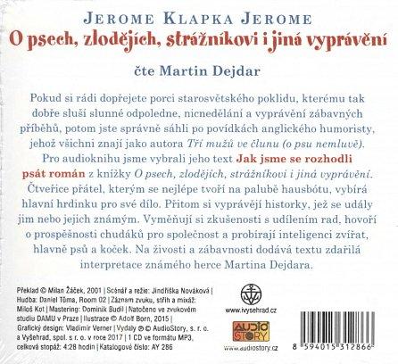 Náhled O psech, zlodějích, strážníkovi a jiná vyprávění - CDmp3 (Čte Martin Dejdar)