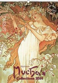 Kalendář 2014 - Alfons Mucha - nástěnný s prodlouženými zády