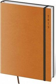 Diář 2015 - FLEXIES denní A5 - oranžová
