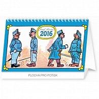 Kalendář stolní 2016 - Josef Lada - Švejk,  23,1 x 14,5 cm