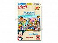 Dřevěné puzzle Disney báječný svět, 100 dílků