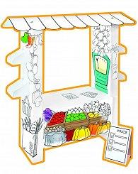 Stánek s ovocem a zeleninou papírový