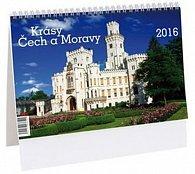 Kalendář stolní 2016 - Krásy Čech a Moravy