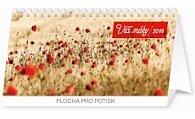 Kalendář stolní 2016 - Vlčí máky řádkový,  25 x 12,5 cm