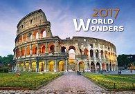 Kalendář nástěnný 2017 - World Wonders