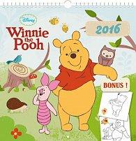 Kalendář nástěnný 2016 - W. D. Medvídek Pú, poznámkový  21 x 21 cm