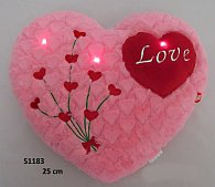 Valentýnské srdíčko s blikajícími světýlky 25 cm