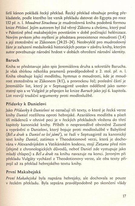 Náhled Deuterokanonické knihy Starého zákona