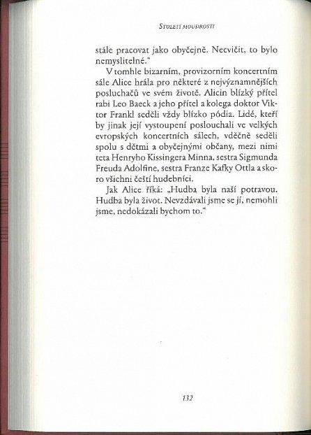 Náhled Století moudrosti - Lekce ze života Alice Herzové Sommerové, uznávané koncertní pianistky, nejstarší žijící osoby na světě, která přežila holocaust