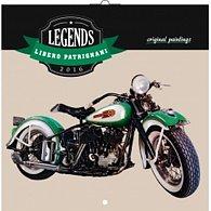 Kalendář nástěnný 2016 - Legends - Libero Patrignani, poznámkový  30 x 30 cm