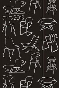 Diář 2013 - magnet. Židle 10,5 x 15,8 cm - CZ
