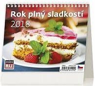 Kalendář stolní 2018 - MiniMax/Rok plný sladkostí