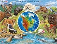 Puzzle MAXI - Zvířata Severní Ameriky/90 dílků