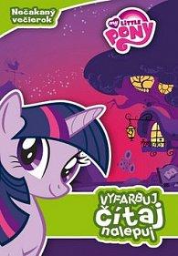 My Little Pony Nečakaný večierok Vyfarbuj, čítaj, nalepuj