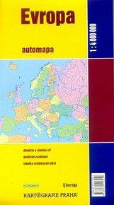 Evropa automapa 1:4 000 000