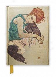 Zápisník Seated Woman by Egon Schiele (Foiled Journal)