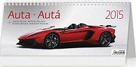 Kalendář stolní 2015 - Auta (32,1x13,4)