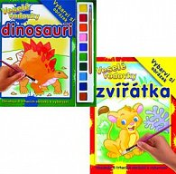 Komplet 2ks Veselé vodovky Zvířátka + Dinosauři