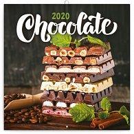 Kalendář poznámkový 2020 - Čokoláda, voňavý, 30 × 30 cm