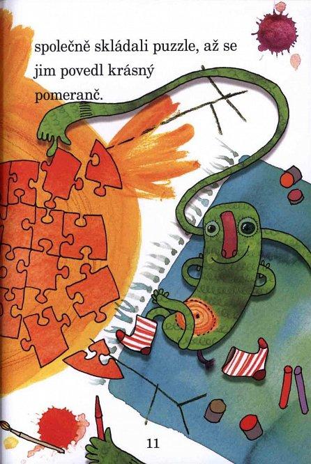Náhled Honzík a zelená potvůrka - Moje první čítanka