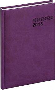Diář 2013 - Tucson-Vivella - Týdenní A5, tmavě fialová, 15 x 21 cm