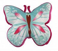Svítící polštář motýl, modro-červený