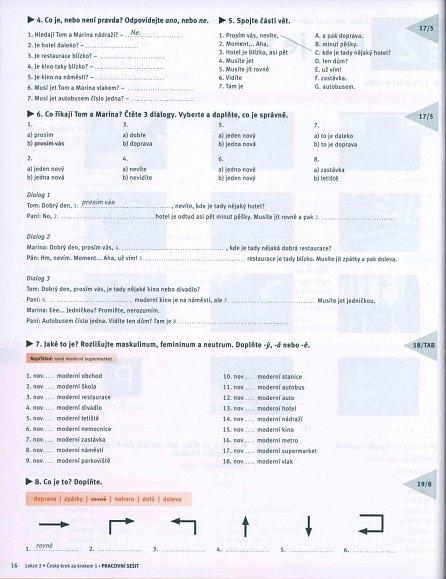 Náhled Česky krok za krokem 1. - Pracovní sešit Lekce 1–12