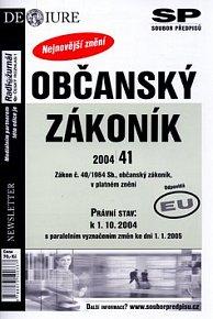 Občanský zákoník právní stav k 1.10.2004