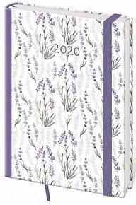Diář 2020 - Vario/denní A5/Lavender s gumičkou
