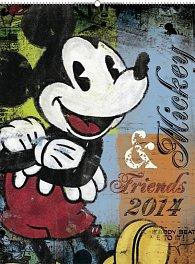 Kalendář 2014 - W. Disney Mickey & Friends s prodlouženými zády