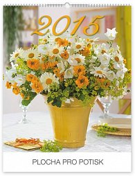 Kalendář 2015 - Květiny Praktik - nástěn