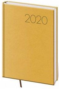 Diář 2020 - Print/denní A5/žlutá