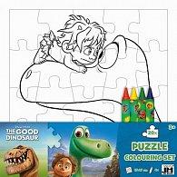 Hodný dinosaurus  - Omal. puzzle s voskovkami