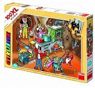 Puzzle Čtyřlístek návštěva v podzemí 100 dílků XL