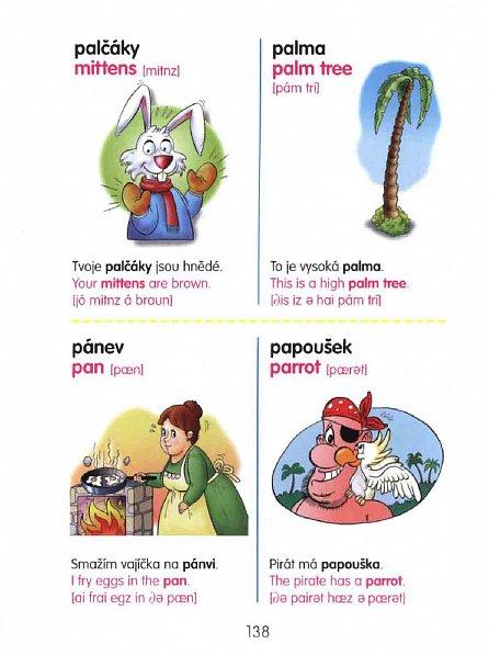 Náhled Dětský obrázkový slovník ČJ -AJ s přepisem výslovností