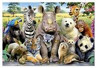 Puzzle Zvířátka - třídní foto 1000 dílků