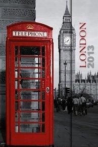 Diář 2013 - Telephone Booth - 10,5 x 15,8 - 6jazyčné (ČES, SLO, MAĎ, POL, ANG, NĚM)
