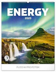 Kalendář nástěnný 2020 - Energie, 48 × 56 cm