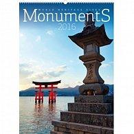 Kalendář nástěnný 2016 - Monumenty - světové památky UNESCO,  33 x 46 cm