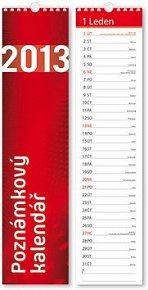Poznámkový kalendář 2013 (460x110) - nástěnný kalendář