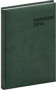 Diář 2014 - Tucson-Vivella - Týdenní B5, tmavě zelená (ČES, SLO, ANG, NĚM)